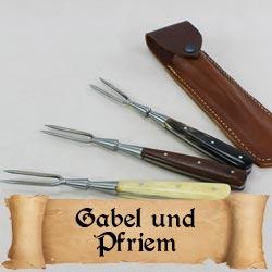Gabel und Pfriem für das Mittelalterliche Lager