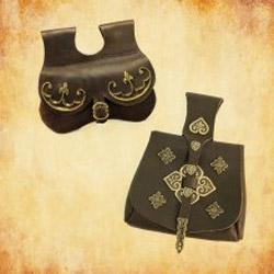 Mittelalter Gürtel, Taschen und Beutel für Reenactment
