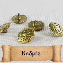 Mittelalter Knöpfe für die Gewandung aus Messing oder Zinn