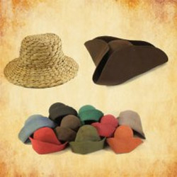 Mittelalter Kopfbedeckungen für authentische Darstellungen - Strohhüte, Barrett, Pilgerhüte und mehr