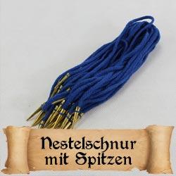 Fertige Nestelschnur mit Nestelspitzen für die Mittelalter Gewandung