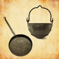 Mittelalter Töpfe und Kessel für das Lager