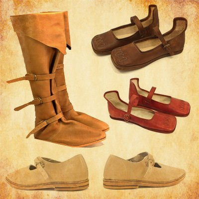 Medieval shoes and boots