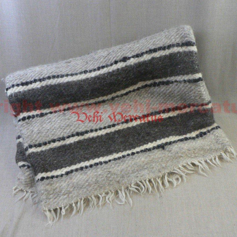 riesen handgewebte decke wollwei mit grauen streifen 210 x 220. Black Bedroom Furniture Sets. Home Design Ideas