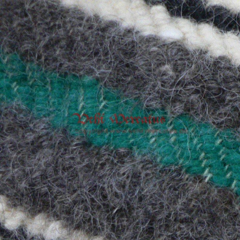riesen handgewebte decke mit gr nem streifen 210 x 220 cm 139 0. Black Bedroom Furniture Sets. Home Design Ideas