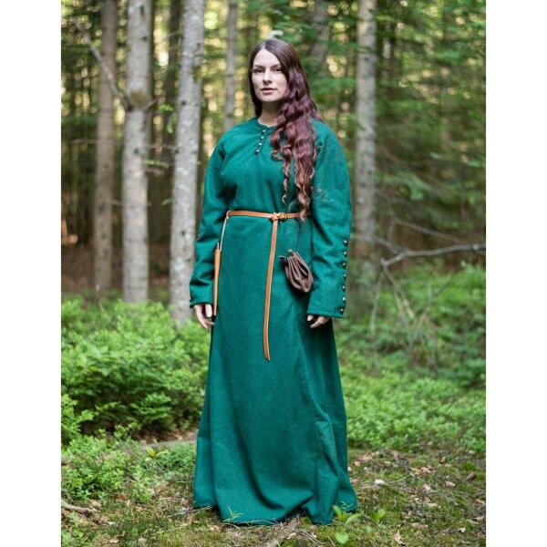 Spätmittelalterliches Kleid mit Knöpfen aus Wolle grün, 79 ...