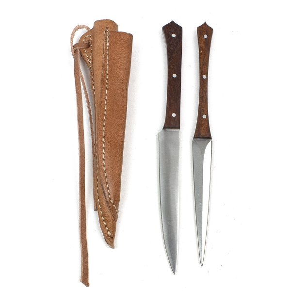 Knife and Pricker set VII wood