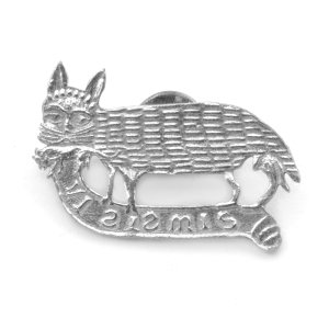 Cat and Mouse pewter badge 1400