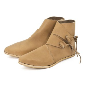 Half-Boots early medieval natural brown 43