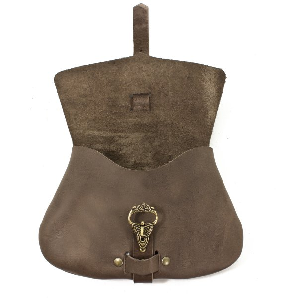 D-type beltbag or purse brown