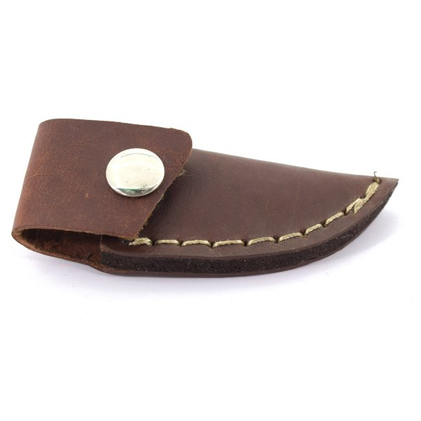 Leather scabbard for small folding kinves 9cm